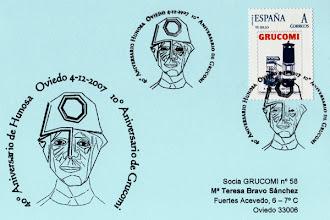 Photo: Matasellos de Grucomi del X Aniversario del grupo y el 40 de Hunosa