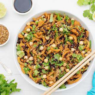 Black Rice & Sweet Potato Salad with Ginger Miso Dressing [vegan] [gluten free].