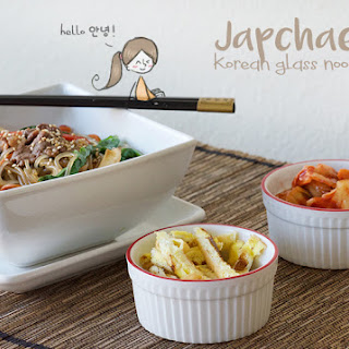Japchae (Korean Glass Noodles).