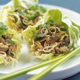 Pork and Noodle Salad Wraps