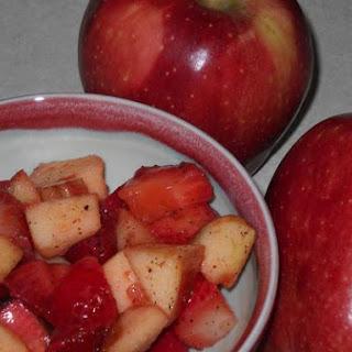 Apple Strawberry Salad With Plum Powder.