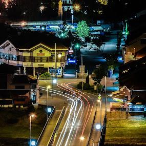 Big bridge (Golemi most) by Zec Mladen - City,  Street & Park  Night ( street, long exposure, night, bridge, pirot, city, city at night, street at night, park at night, nightlife, night life, nighttime in the city,  )