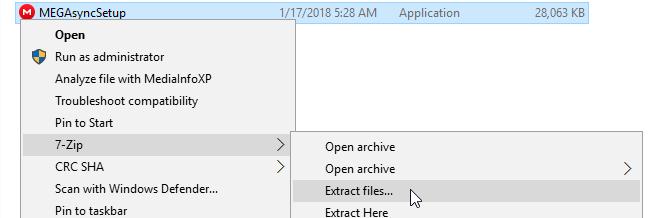 Extract installer