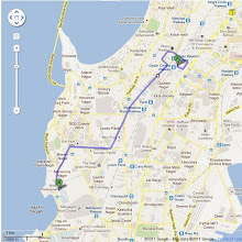 Photo: Route Map: Dadar Circle to Nehru Centre