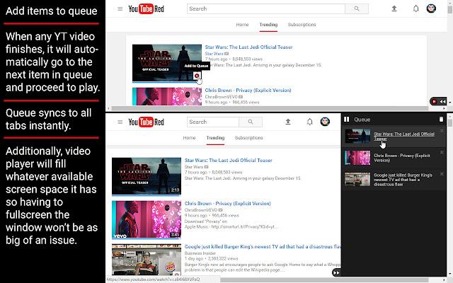 YouTube Queue