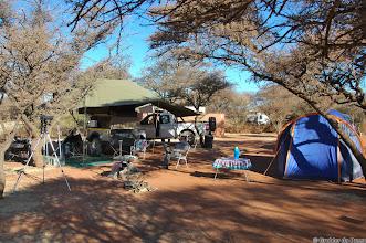 Photo: Camping underneath a Haak en Steek tree at the Haak en Steek Camp Site in the Mokala National Park. Mine is the humble blue tent...