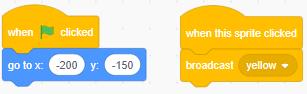 lập trình cho khối yellow