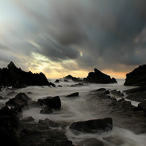 Hartland Quay by Adam Griffin - Landscapes Waterscapes ( sea )