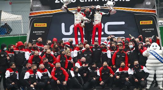 Hyundai consigue el segundo titulo consecutivo de marcas en el mundial de rallys