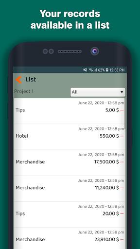 Shopping Expenses screenshot 2