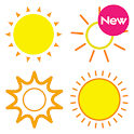 COLOR WEATHER ICONS FOR HDW icon