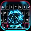 Neon Fire Purge Man Keyboard Theme icon