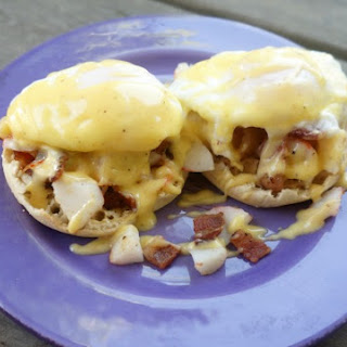 Crab and Bacon Eggs Benedict