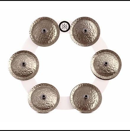 Big Fat Snare Drum Bling Ring - White/Copper