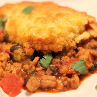 Turkey Chili Cornbread Shepherd's Pie