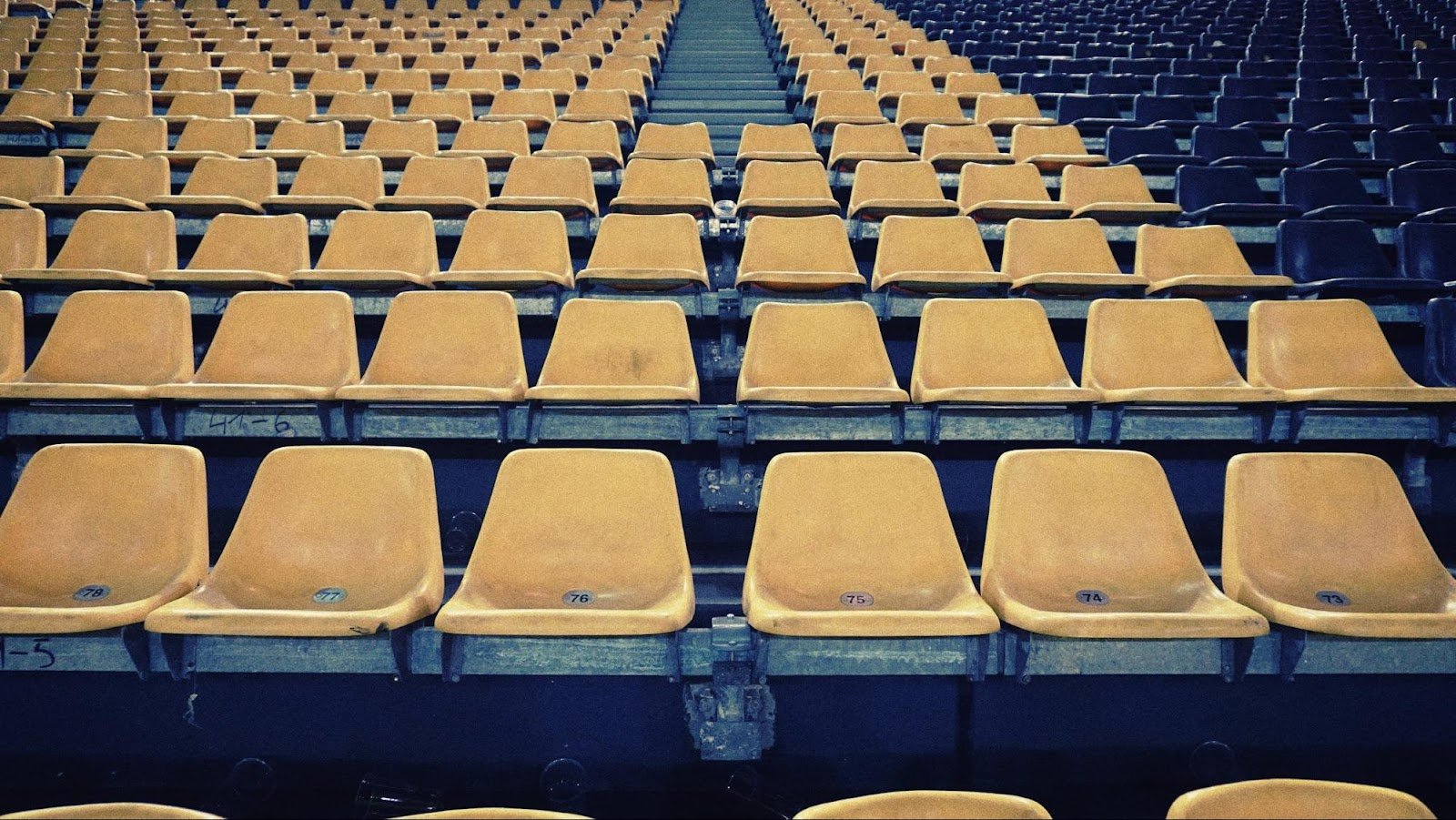 Empty seats at a music venue