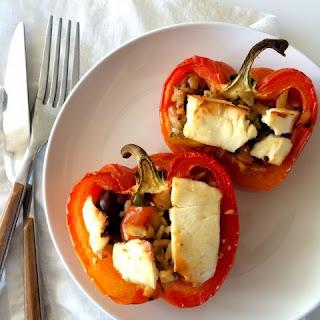 3-Ingredient Greek Stuffed Peppers.
