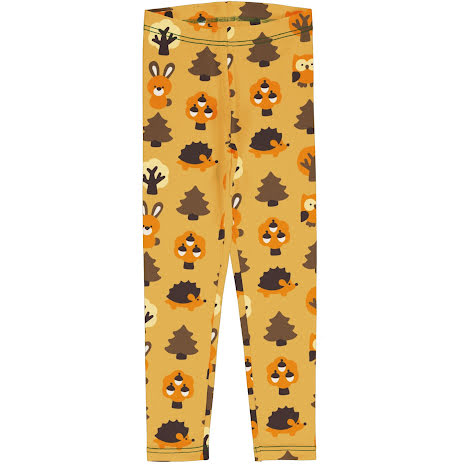 Maxomorra Leggings Sweat Yellow Forest