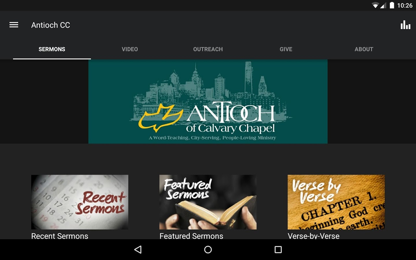 Antioch Christian Fellowship- screenshot