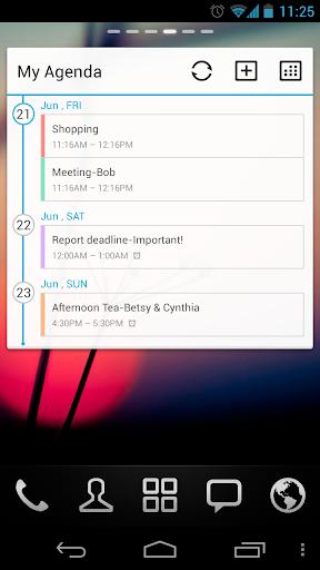 GO Calendar Widget screenshot 2