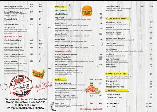 Slice Of Chandigarh menu 1