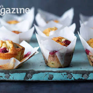 Raspberry And Passion Fruit Muffins.