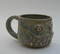 "Photo: Mug 11 * __ * 2.5"" tall. *  Holds ~ 0.75 cup"