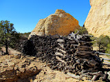 Photo: Wood pile at Copper Globe