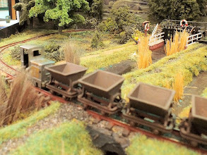 Photo: 016 Another one of Rod Allcock's little masterpieces in the form of a tiny scratchbuilt Ruston & Hornsby LA diesel loco on the skip train at Pig Dyke Farm .