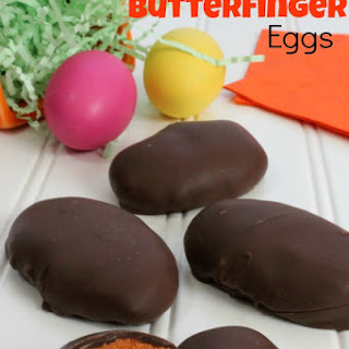 Homemade Butterfinger Egg