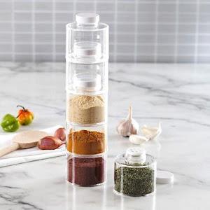 Carusel condimente cu 6 recipiente Spice Tower