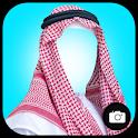 Arab Man Fashion Photo Suit icon