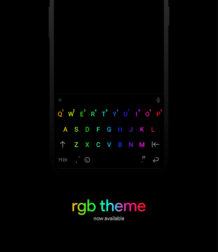 Chrooma Keyboard - RGB & Chameleon Theme screenshots 1