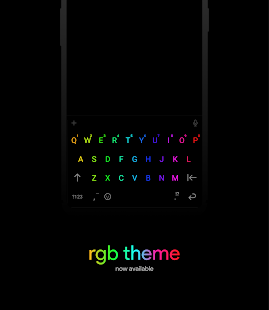 Chrooma Keyboard - RGB & Chameleon Theme Screenshot