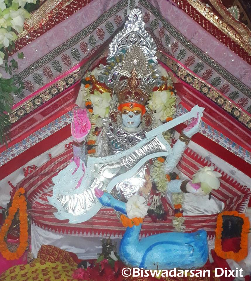 Mahasaraswati Besha of Maa Bhadrakali