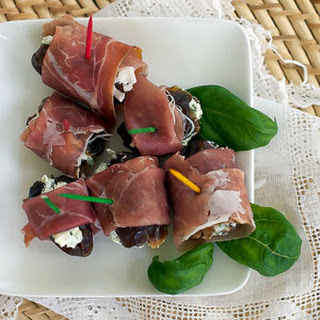 Stuffed Dates with Prosciutto.