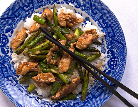 Very asian chicken asparagus pity, that