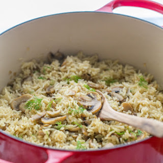 Mushroom Rice Pilaf (a one-pot meal)