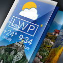 Weather Live Wallpaper. Current forecast on screen icon