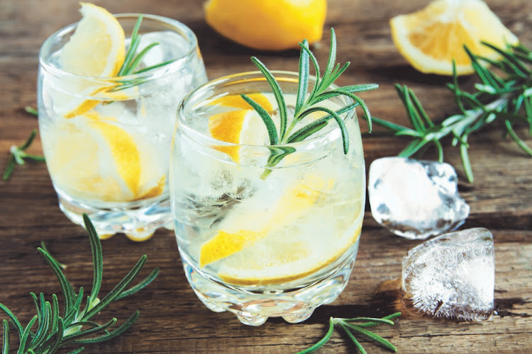 A classic Gin and Tonic.