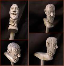 Photo: Bastón caballero. Talla en madera. Woodcarving.   Para leer algo más en relación con esta obra ir al blog: http://tallaenmadera-woodcarving-esculturas.blogspot.com/2015/11/ocho-bastones.html