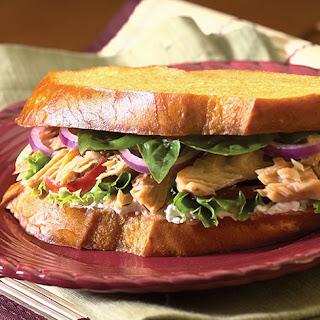 Salmon, Lettuce and Tomato Sandwich