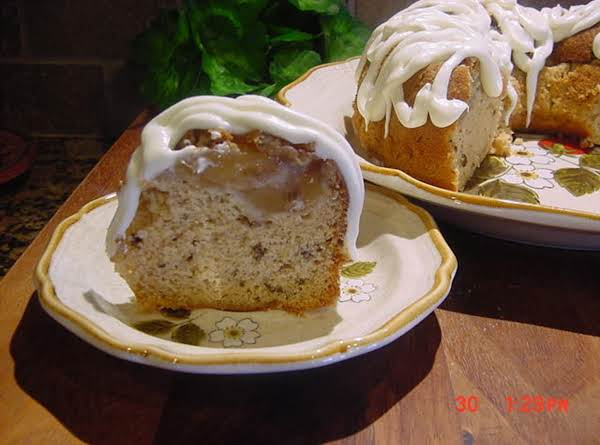 Apple Walnut Bundt Cake With Rum Icing--bonnie's Recipe