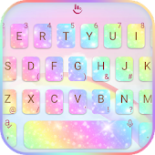 Rainbow Galaxy Stylish Reading Android APK Download Free By Love Cute Keyboard