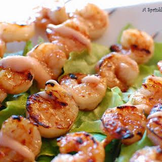 Grilled Guava Shrimp.