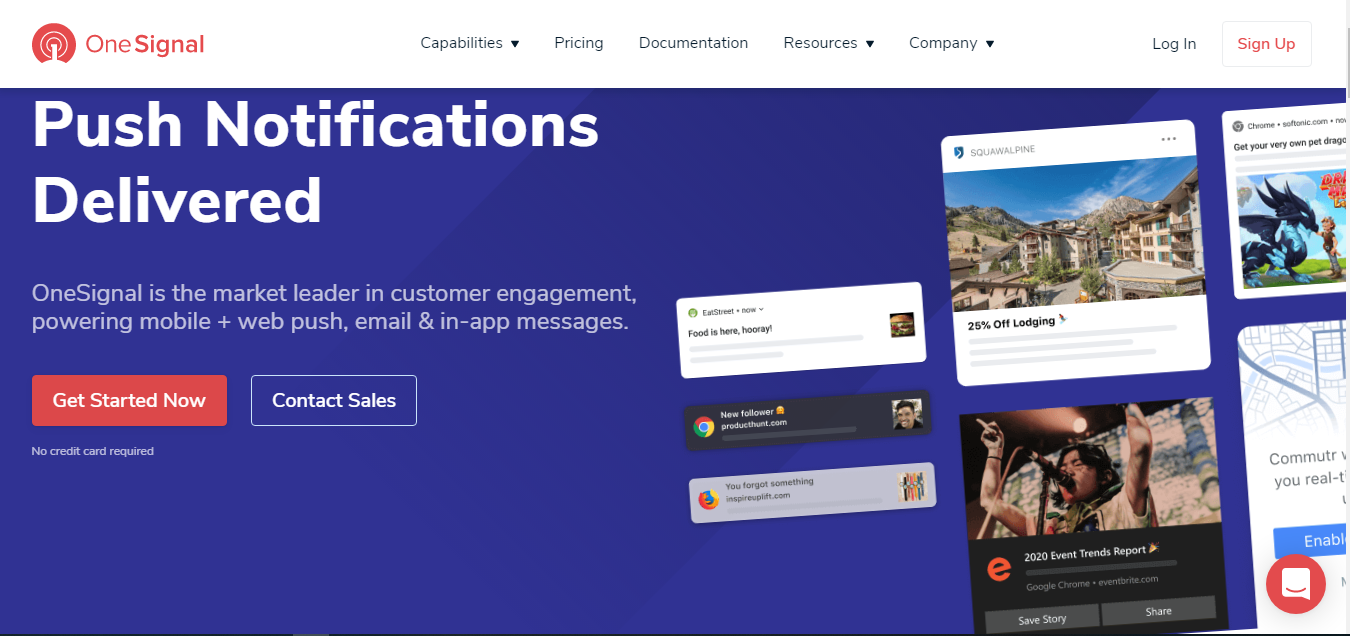 OneSignal push notification services for web and mobile app development