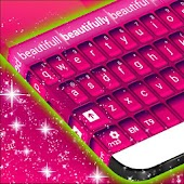 Keyboard Color Pink Theme