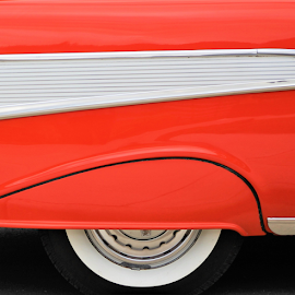 Red Antique by Leah Zisserson - Abstract Patterns ( red, white, car, black, antique car, car show, virginia,  )