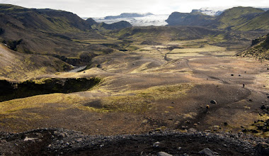 Photo: ... a overview of Entujökull glacier valley ...