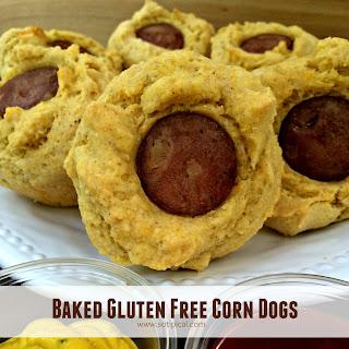 Baked Gluten Free Corn Dogs